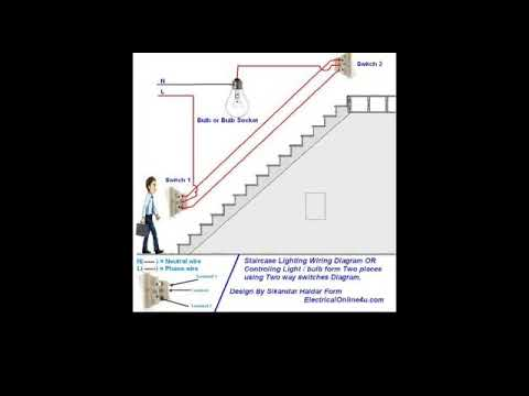 two way switch connection in telugu type 1 two way switch wiring in rh youtube com house wiring books in telugu house wiring basics in telugu