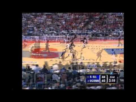 Caron Butler & UConn 2002 NCAA Tourney Highlights - vs. So. Illinois & vs. Maryland