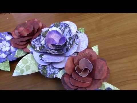 Tutorial Paper Flower Wreath Project Youtube
