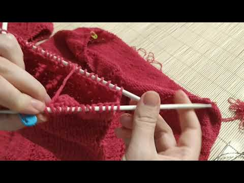 Мастер-класс по присоединению рукавов к основному вязанию регланом снизу. Реглан и подрез.