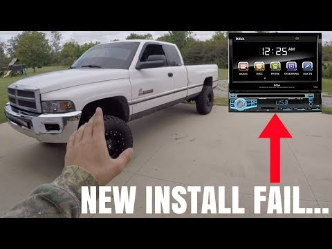 INSTALLING BOSS FLIP UP RADIO HEAD UNIT!!! (Gone Wrong)