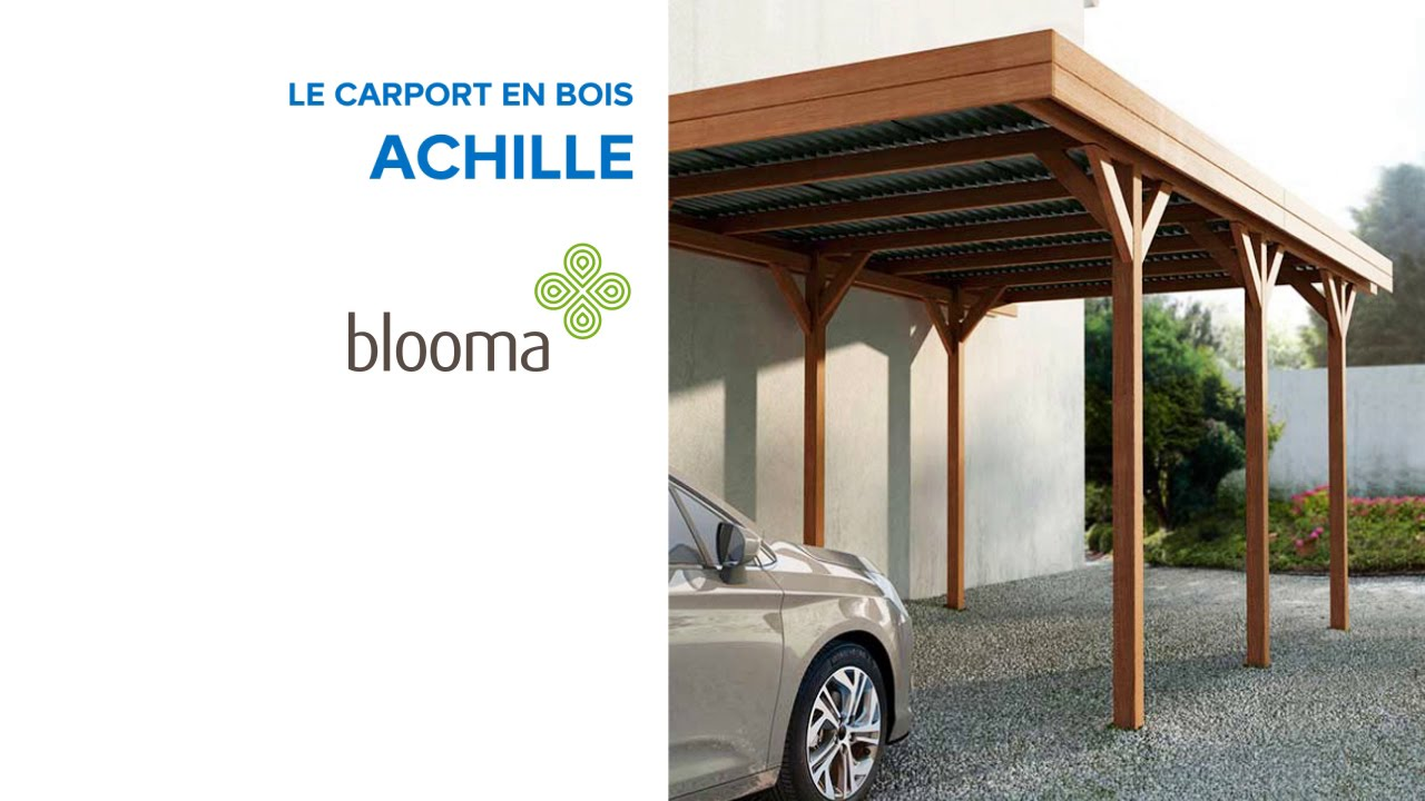carport en bois achille blooma 642905 castorama youtube. Black Bedroom Furniture Sets. Home Design Ideas