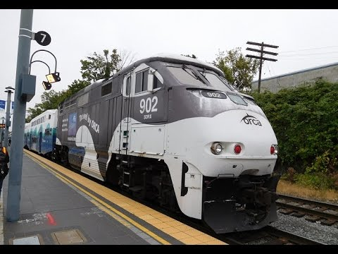 Sounder Commuter Trains at Freighthouse Square | NRHS RailCamp Northwest 2016 Monday, August 1st