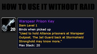 How to use Warspear prison key without party (fixed) :(