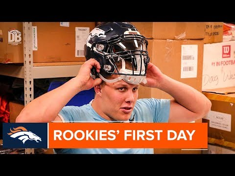 Broncos rookies wrap up their first day in Denver