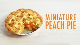 PEACH PIE • miniature • polymer clay tutorial