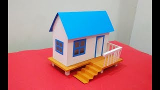 How to Make Beautiful House From carton sheet | art and crafts