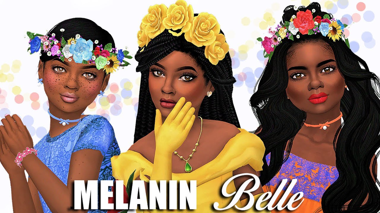 The sims 4 hair accessories - The Sims 4 Cas Melanin Belle Children A Lot Of Cc Links