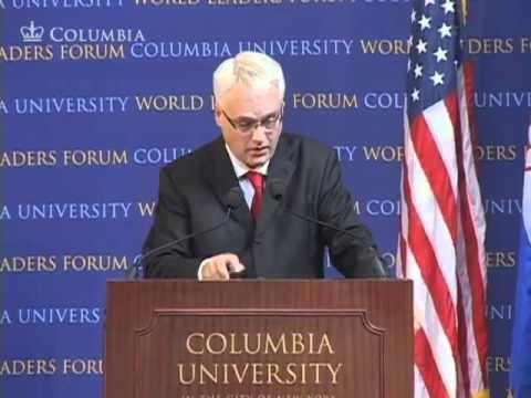 President of the Republic of Croatia, Ivo Josipović at World Leaders Forum