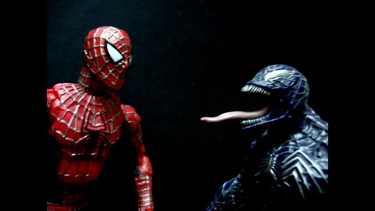spiderman vs venom part 1 stopmotion toy youtube