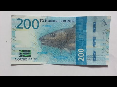 New 200 Norwegian Krone (NOK) Banknote 2017
