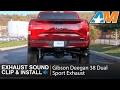 2015-2017 F-150 (5.0L) Gibson Deegan 38 Dual Sport Stainless Cat-Back Sound Clip & Install