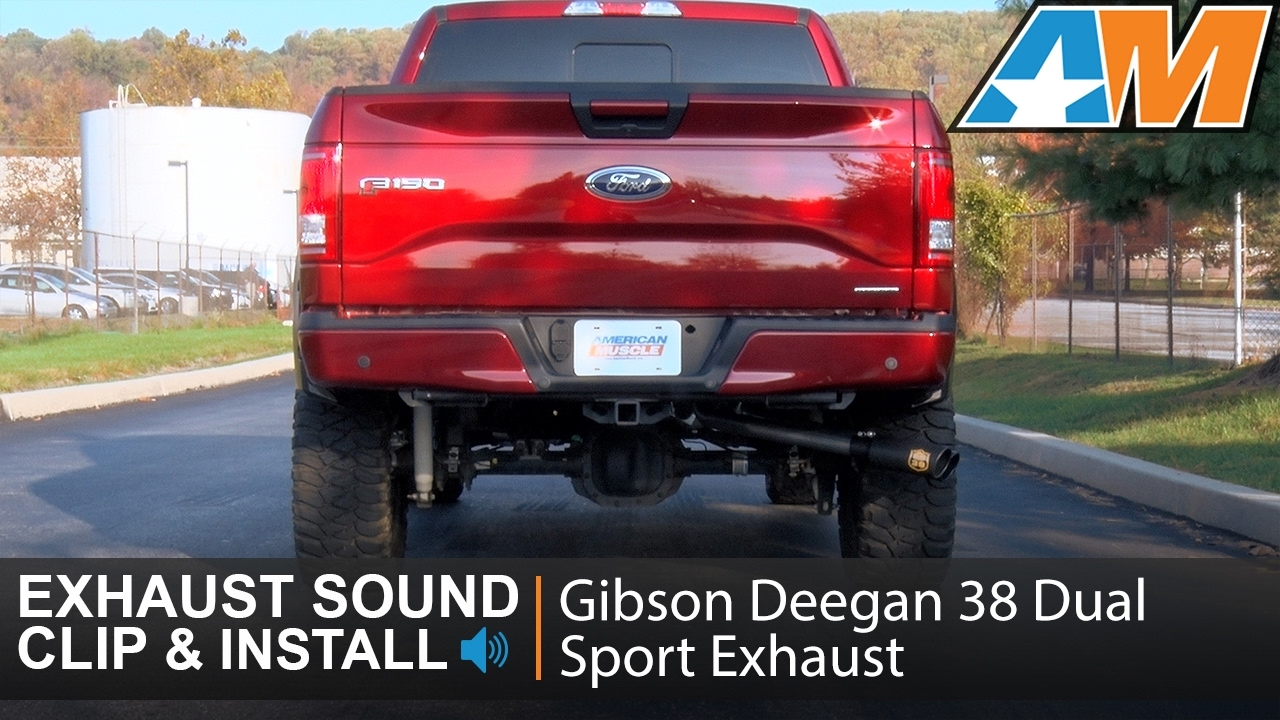 F150 5 0l gibson deegan 38 dual sport stainless cat back sound clip install 2015 2017