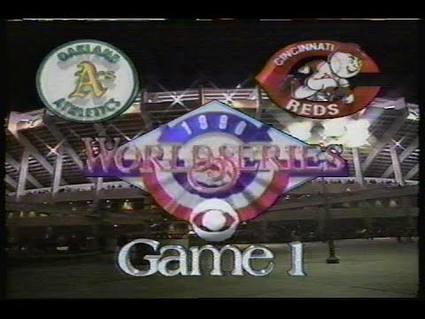 1990 World Series Game #1: A's at Reds