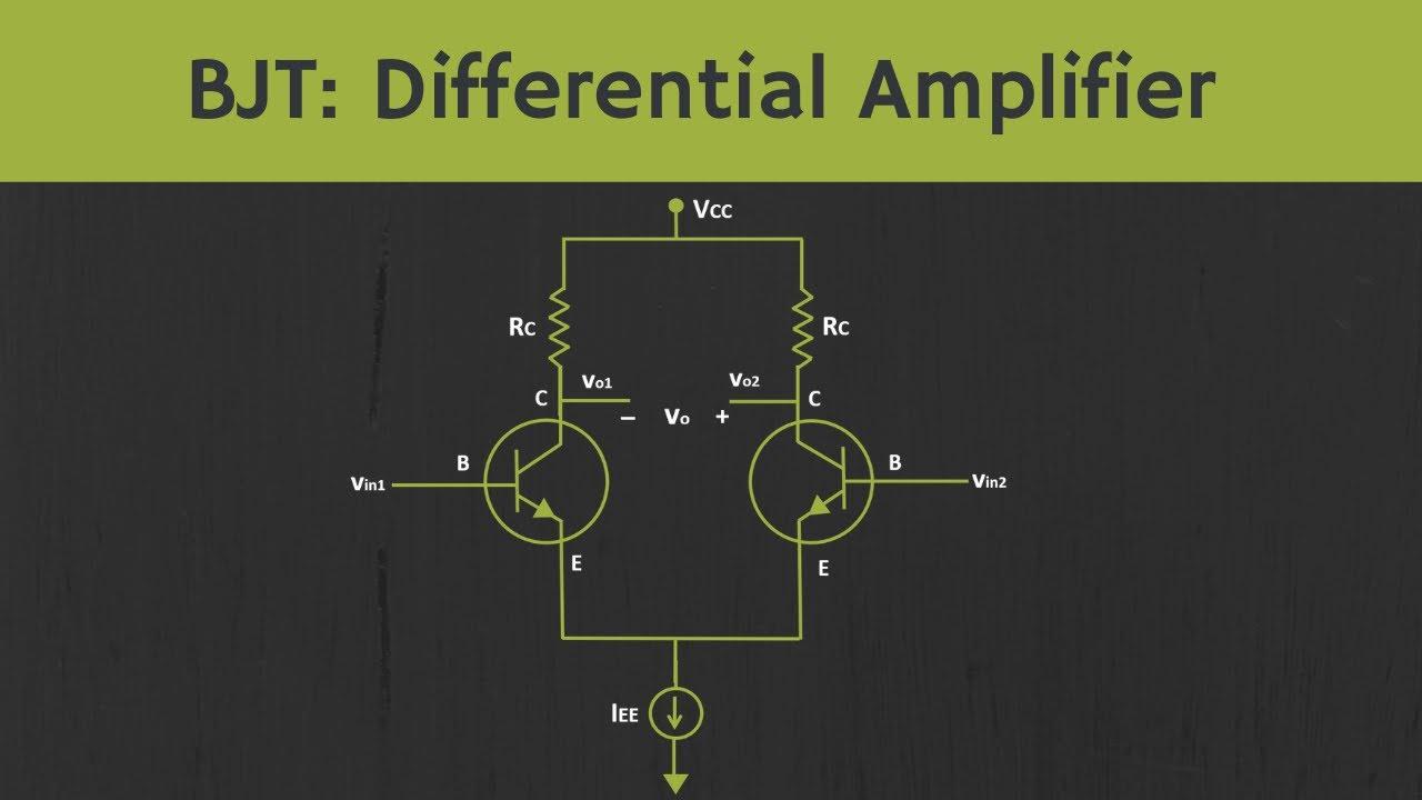 BJT:  Differential Amplifier Explained
