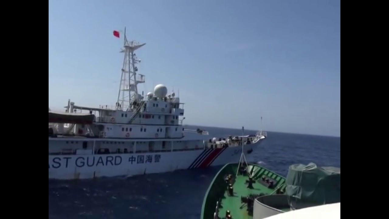 Tàu Việt Nam ngăn cản tàu Trung Quốc xâm phạm chủ quyền