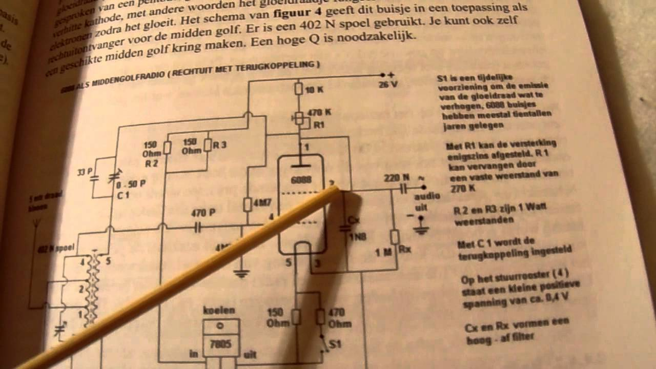 Am Radio Schematic Diagram Tube Wiring Libraries Cxa1019 Fm Circuit Electronic Circuits 1 From The 1920u0027s How To Make It Youtubeam