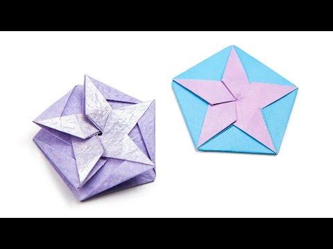 Origami White Star Tato/Coaster Tutorial (Philip Chapman-Bell) - Paper Kawaii