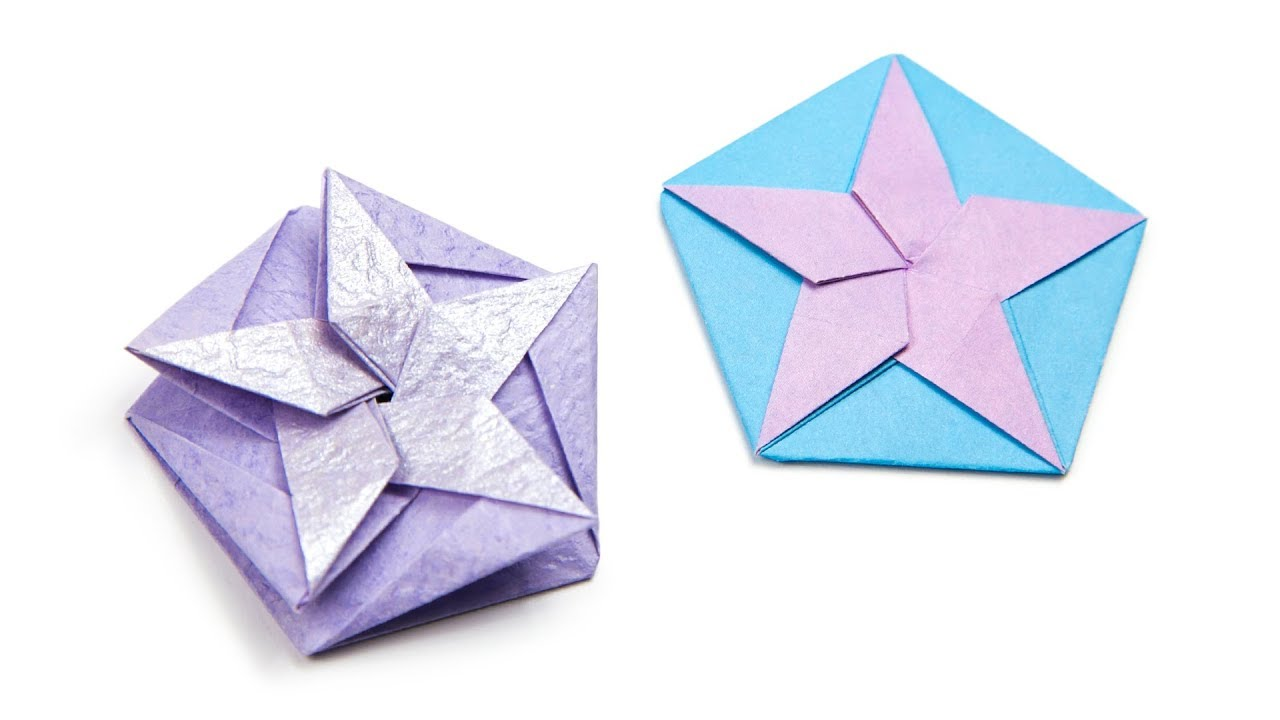 Origami White Star Tato/Coaster Tutorial (Philip Chapman ... - photo#2