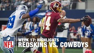 Redskins vs. Cowboys | Week 17 Highlights | NFL