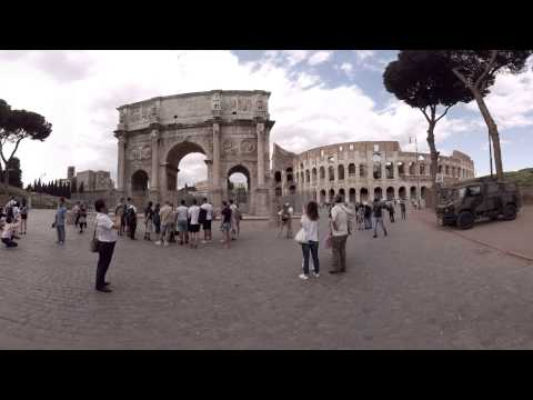 360 video: Arch of Constantine, Rome, Italy