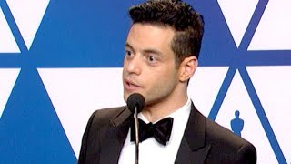 Oscars 2019: Rami Malek Wins For Actor In A Leading Role In Bohemian Rhapsody (FULL INTERVIEW)