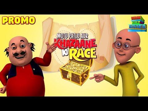 Funny Cartoon Movie For Kids | Motu Patlu - Khazaane Ki Race | Promo | WowKidz Movies thumbnail