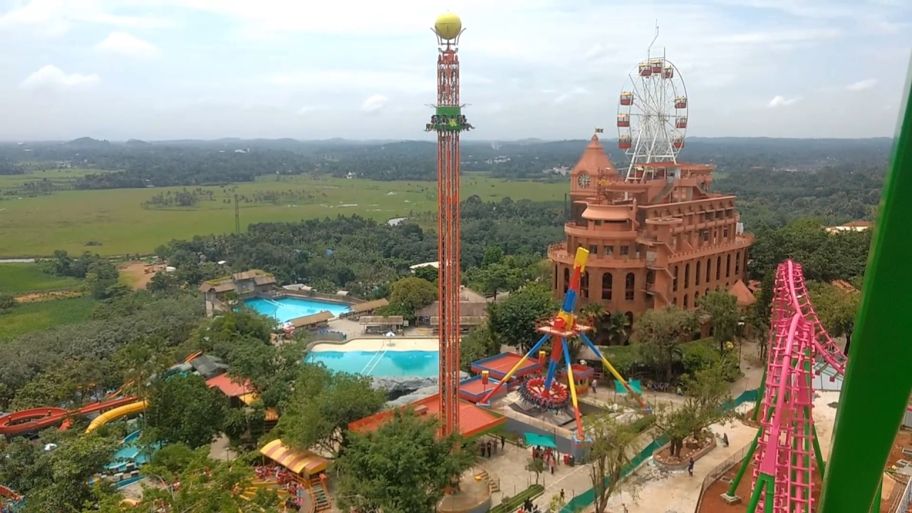 Wonderla Kochi Top View - YouTube