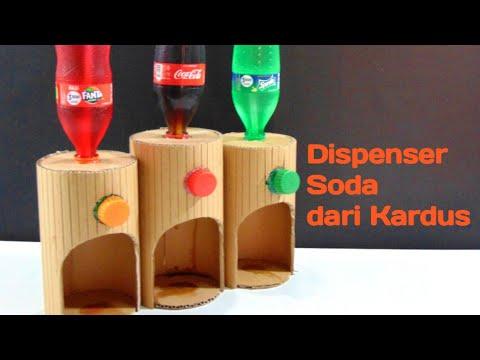 Cara Membuat Dispenser Soda Dari Kardus Bekas Youtube