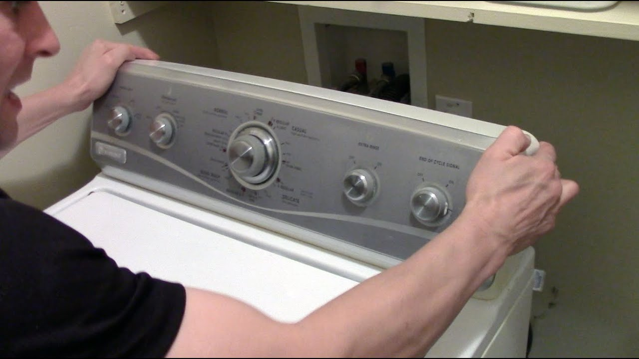 How to open or remove a Washer / Dryer Control Panel - Whirlpool Maytag Machine Diagrams Washing Wiring Maytag Mvwx Xw on