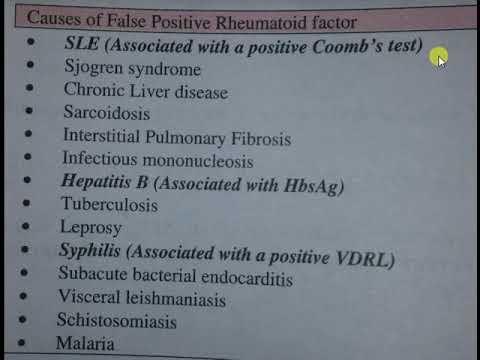 FALSE POSITIVE RHEUMATOID FACTOR - YouTube