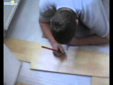 parquet flottant d coupe d 39 angle youtube. Black Bedroom Furniture Sets. Home Design Ideas