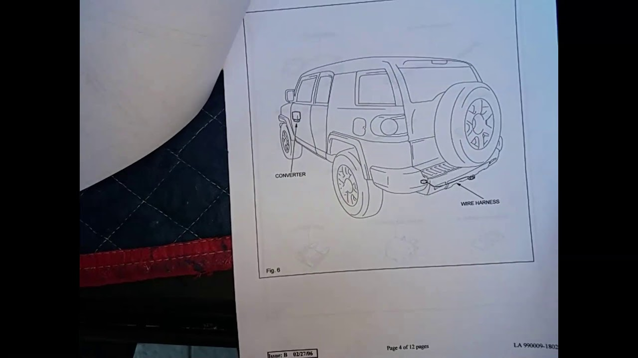 Diagram Rw 8394 Installing Trailer Wiring Harness Fj Cruiser
