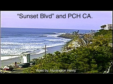 """Sunset Blvd"" and PCH CA  4-7.5 feet wave faces - surfing"