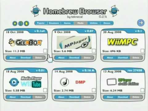 Homebrew Browser v0 2 4 for Nintendo Wii