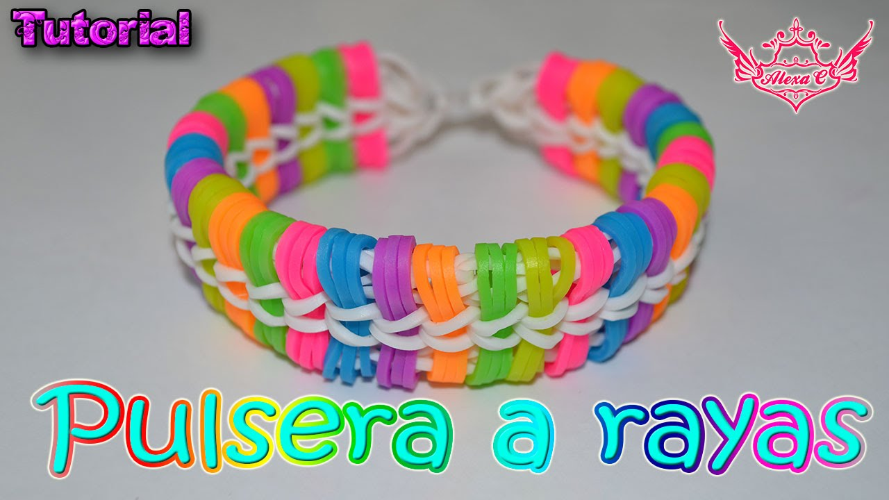 c5e9e35c2a ♥ Tutorial  Pulsera a Rayas (sin telar) ♥ - YouTube