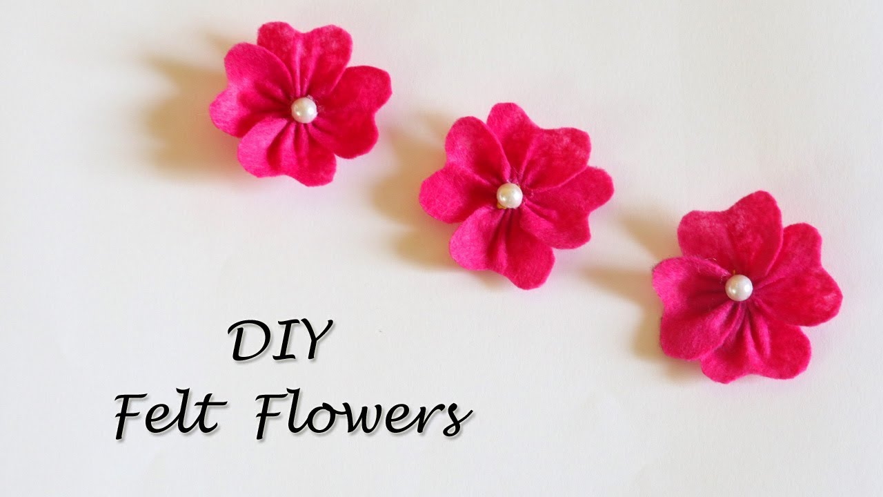 Diy Felt Flowers Tutorial Easy Flower Making Little Crafties
