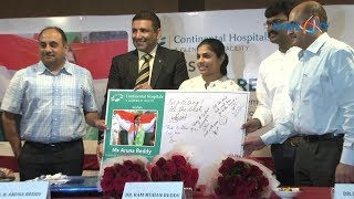 Continental Hospitals Felicitations to Gymnast Aruna Reddy
