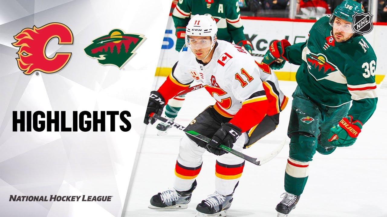 NHL Highlights | Flames @ Wild 1/5/20