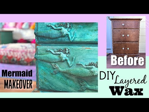 Create colored wax layers & Mermaid drawer pulls