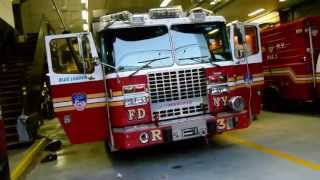 FDNY Rescue 3 and RAC 3 respond 10-75 with real Q