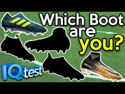 WHICH FOOTBALL BOOT ARE YOU?! IQ PERSONALITY TEST