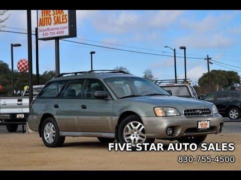 2003 Subaru Outback Wagon Review Youtube