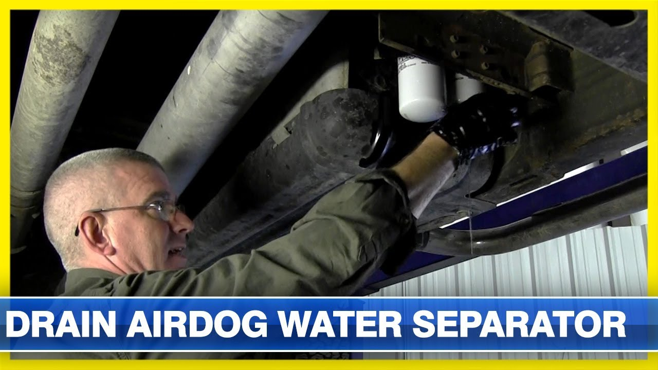 how to drain an airdog fuel system water separator filter [ 1280 x 720 Pixel ]