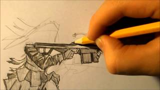 Speed drawing- sniper girl