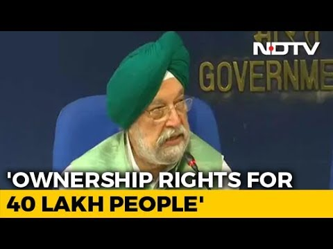 40 Lakh Living In Unauthorised Colonies In Delhi To Get Ownership Rights