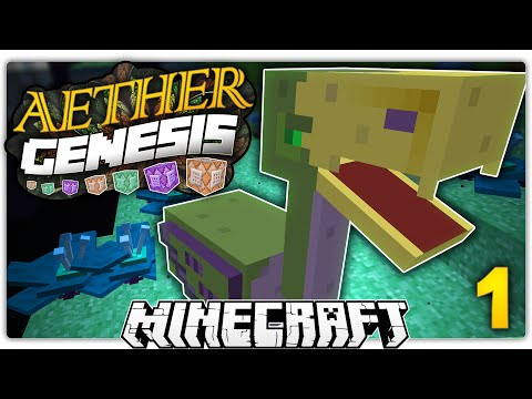 THE WORLD ABOVE THE END... | Minecraft Aether GENESIS Custom Command World