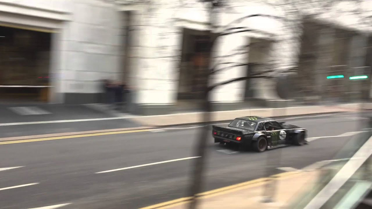New Top Gear Scene Canary Wharf London Matt Leblanc Ken Block