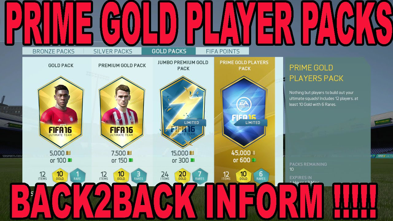 Fifa 16 Prime Gold Players Packs Back2back Informs