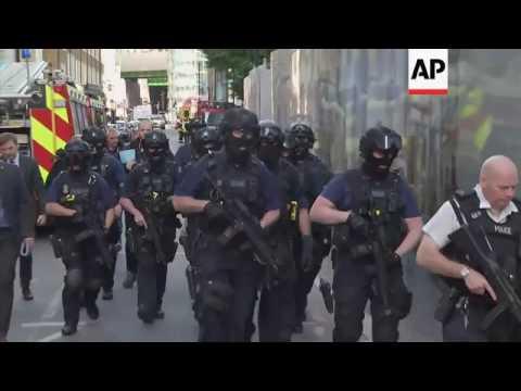 Armed police in